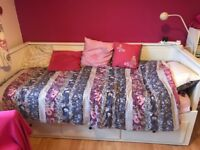Ikea Hemnes Day Bed. Single/double/ 3 drawers. In very good condition. Both mattresses available