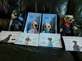 Collection of limited edition meerkat toys