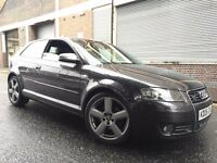 Audi A3 2005 2.0 TDI S Line Quattro 3 door CAMBELT DONE, 2 KEYS, 140BHP, CLEAN CAR, BARGAIN