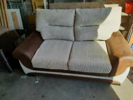 Lovely beige & cream sofa plus chair