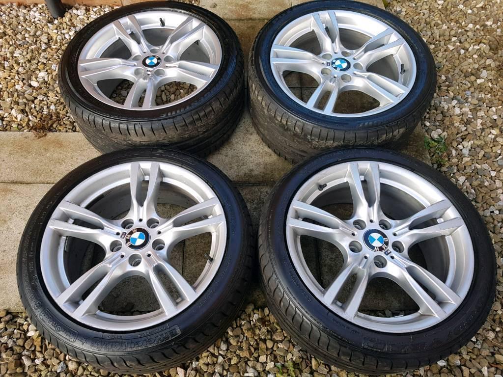 "Genuine bmw 3&4 series alloys 18"""