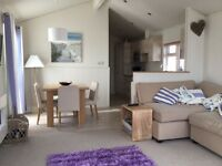 Sited mobile home/ luxury caravan, beachfront front row 6 berth Pevensey Bay, near Eastbourne