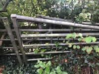 4 Galvanised steel field gates sizes 4mtr 1.4 mtr1.6mtr1.4mtr including 4ceder posts 200mm