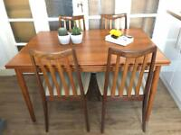 Midcentury table and chairs Free Delivery Ldn Retro 60s