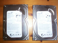 500 gb hard drives £10.00 each