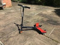 Razor Powerwing Caster Scooter in red and black