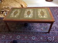 Vintage Coffee Table (Wooden / Tiled)