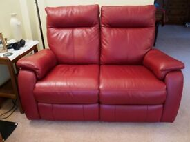 2-seater leather power-recliner sofa