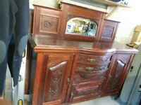 Antique Victorian Hand Carved Mahogany Chiffonier/Sideboard/Dresser