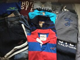 Men's Hollister Bundle, 13 items mostly Small, excellent condition