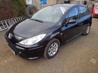 Stunning 2006 Peugeot 307 S 1.6 Petrol Black 5 Door Genuine Low Miles FREE 6 Months Warranty