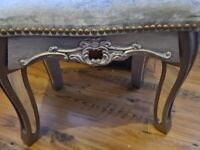 silver dressing tble stool