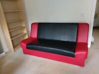 Red and Black Sofa Bed