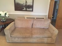 Sofas - 3 seater 4 seater and 1 armchair