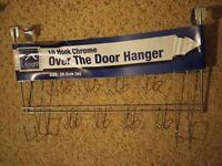 New 10 hook steel over the door hanger