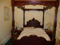 Beautiful Ornate double four poster bed