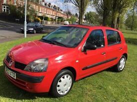 Renault Clio 1.1 Economy 2003, 5 Doors, 82,000 Miles, £60 Tax, Like Fiesta