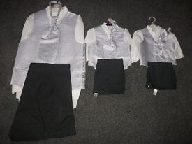3 WEDDING OUTFITS I MENS 2 BOYS OUTFITS AS NEW