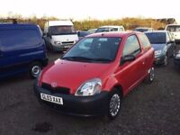 2003 TOYOTA YARIS IDEAL FIRST CAR IN LOVELY SPORTS RED 3DOOR HATCHBACK PX WELCOME ANY TRIAL