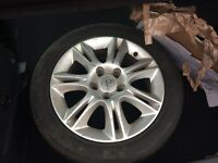 Corsa alloy wheel in good condition. 195 / 55 R16. New tyre needed. £50