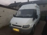 Here i have ford transit hight top van runs and drives
