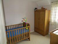 3 piece East Coast Nursery Set - Langham Oak, Mint Condition!