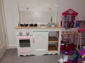 Beautiful wooden toy kitchen
