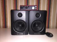 M- Audio BX5 D3 (Pair) doesn't include audio interface.