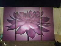 Large purple flower canvass