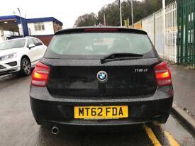 2013 62 reg BMW 1 Series 1.6 116d EfficientDynamics Sports Hatch 3dr Hatchback Turbo Diesel 6 Speed