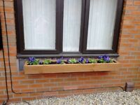 NEW FLOWER PLANTER/WINDOW BOX, MANY SIZES & COLOURS, TREATED DECKING STYLE PLANT BOXES