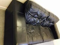 black 3 seater leader couch