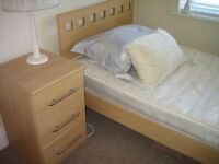 modern single and bedside cabinet set
