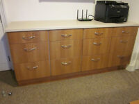 Office / kitchen 3-drawer units, 500 mm width