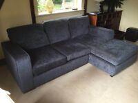 L Shaped Grey Sofa - good condition