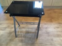 Black Glass Computer Desk/Table