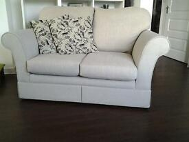 Marks and Spencer 2 seat sofa, neutral colour woven fabric