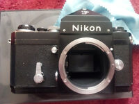GOOD USED CONDITION FULLY WORKING RETRO VINTAGE FILM NIKON F FM2 F2 CAMERAS AND MD4 AUTO WINDER!