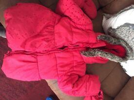 Red m&s kids jacket