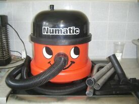 NUMATIC HENRY HOOVER WITH HOSE PIPES AND FLOOR HEAD GOOD WORKING ORDER