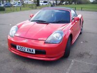 TOYOTA MR2 MK3, LOW MILES, BLACK LEATHER SEATS, HARD TOP INCLUDED, LOVELY CAR