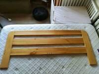 King size pine headboard