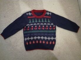 Christmas Jumper, Age 1-2 Years, very good condition
