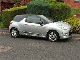 2012 CITROEN DS3 1.6 VTi DStyle 3dr 4 Speed Auto Silver ONLY 11K LOW MILAGE
