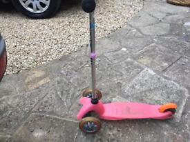 Pink micro scooter