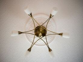 Ceiling light with 4 matching wall lights
