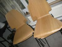6 x Dining Chairs Bent Plywood Ikea Vilmar Oak VGC
