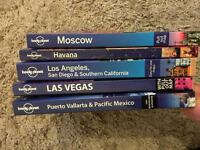 Selection of Lonely Planet travel books