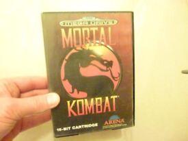 Sega Mega Drive game - Mortal Kombat - boxed complete UK - Great Birthday Christmas Wedding present