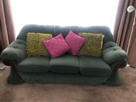 Three piece suite in green
